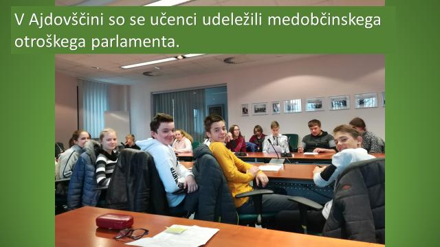 Utrinki o delu otroškega parlamenta (OP)