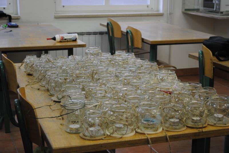 Tehniški dan za 8. a razred: Izdelava Martinovih lučk