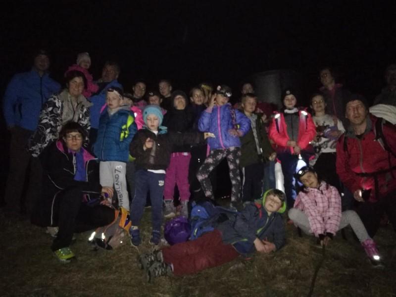 Nočni pohod na Kjecl nad Orehovico